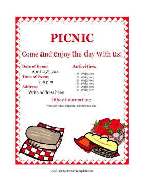 Picnic Flyer Template-3