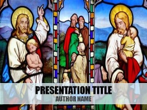 Children And Christianity PowerPoint Template1