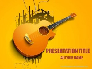 Classic Guitar PowerPoint Template1