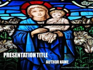 Mother Mary PowerPoint Template1