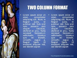 Mother Mary PowerPoint Template2