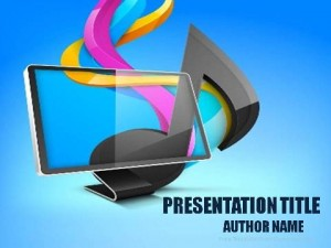 Music Via Internet PowerPoint Template1