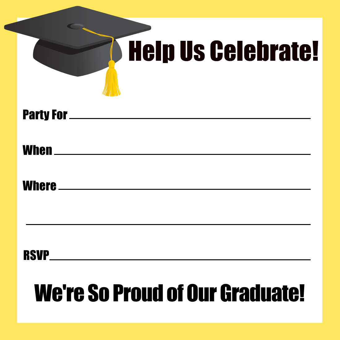 21 Graduation Flyers For Inviting & Congratulating Your Students Pertaining To Free Graduation Invitation Templates For Word