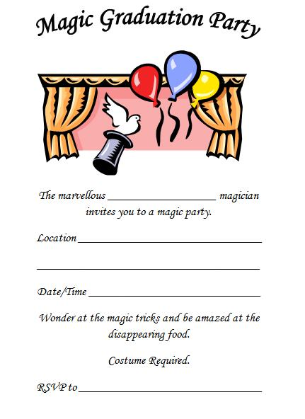 magic graduation party themes