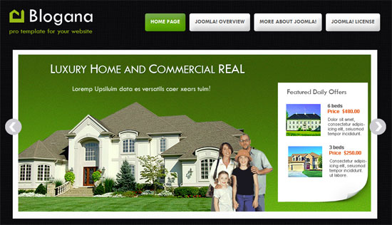 free joomla real estate template11