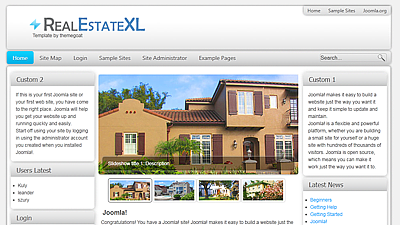 free joomla real estate template12