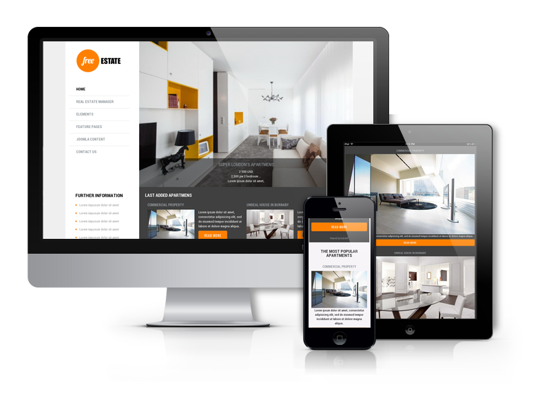 free joomla real estate template8