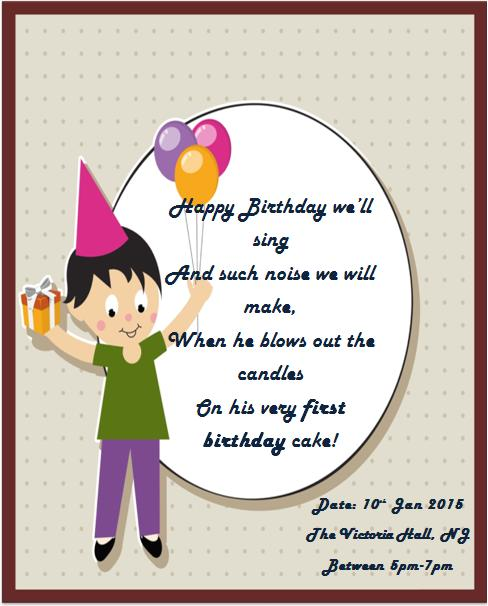 1st birthday invitaion template-1