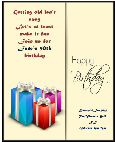 50th birthday invitation templates 6