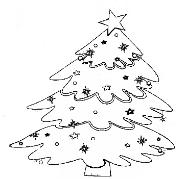 christmas tree coloring tree