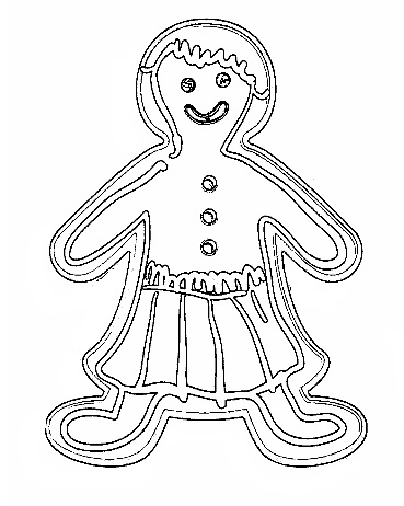 christmas gingerbread coloring page