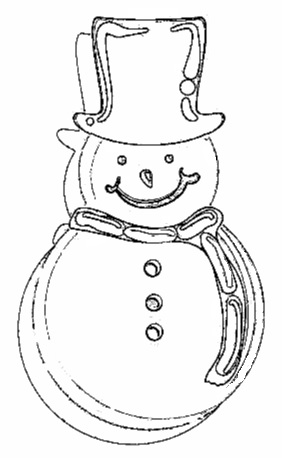 Christmas Gingerbread Coloring Page-7
