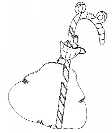 christmas candycane coloring page