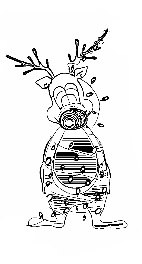 christmas rudoph coloring page