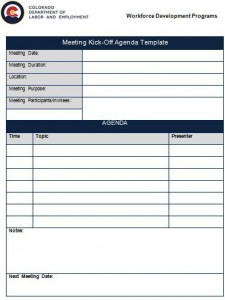 go no go meeting agenda template