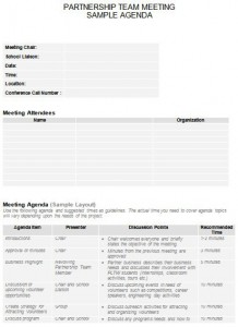meeting agenda template for engineering