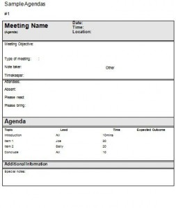 meeting agenda template project management