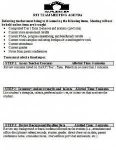 rti meeting agenda template