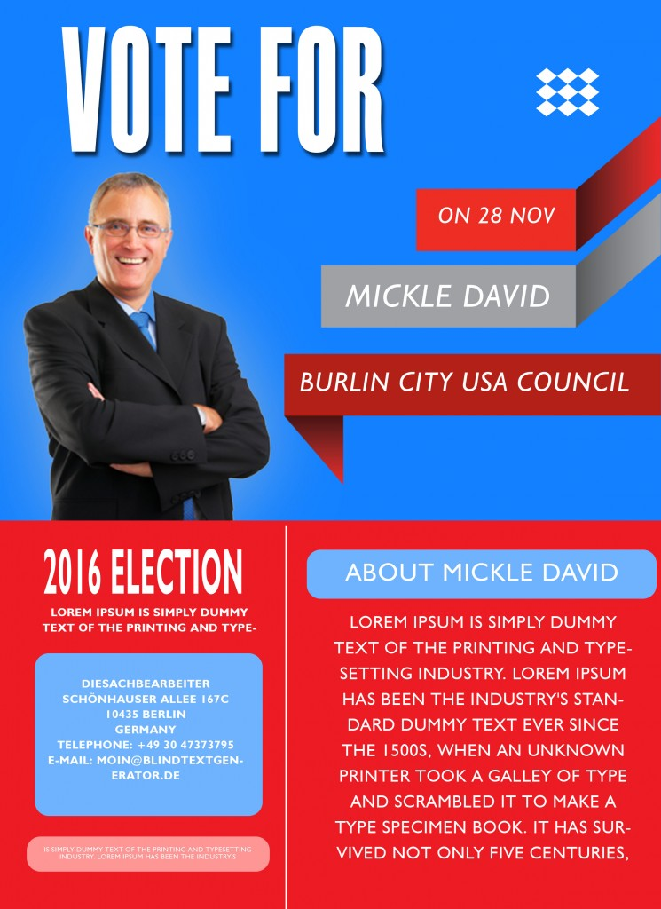 free political campaign flyer templates 11