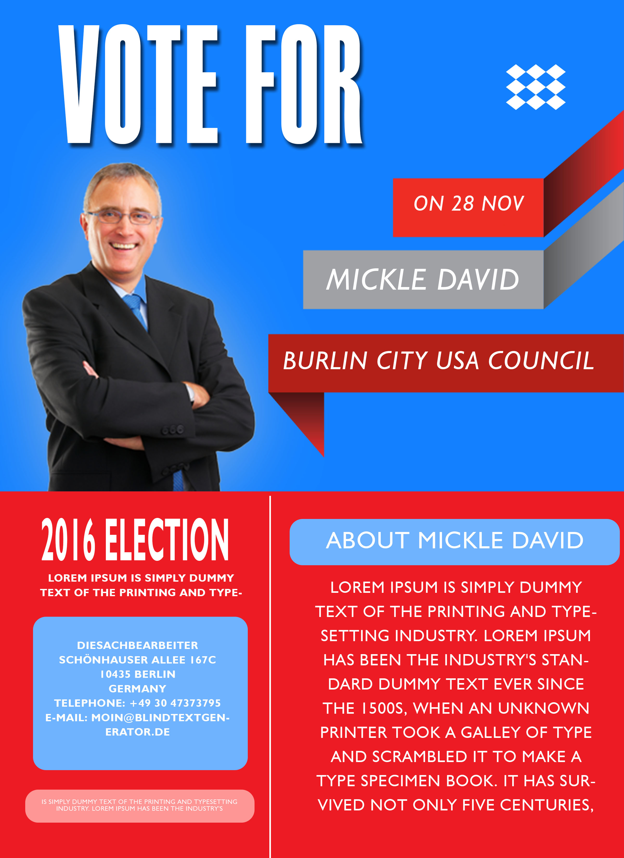 Free Election Flyer Template Microsoft Word Election poster template microsoft word