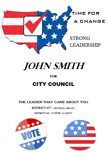 Political Campaign Flyer for City Council