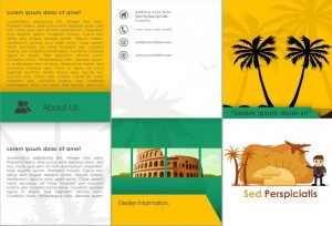 Tri folder vacation brochure template