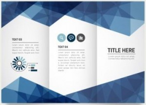 Tri fold brochure template for science events