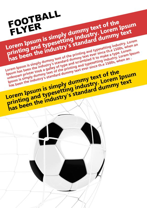 Free football flyer template PSD