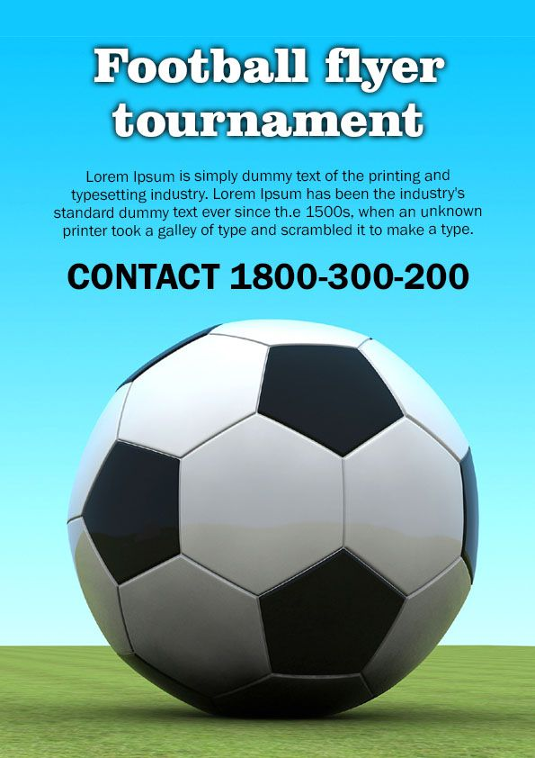 Football tournament flyer template free