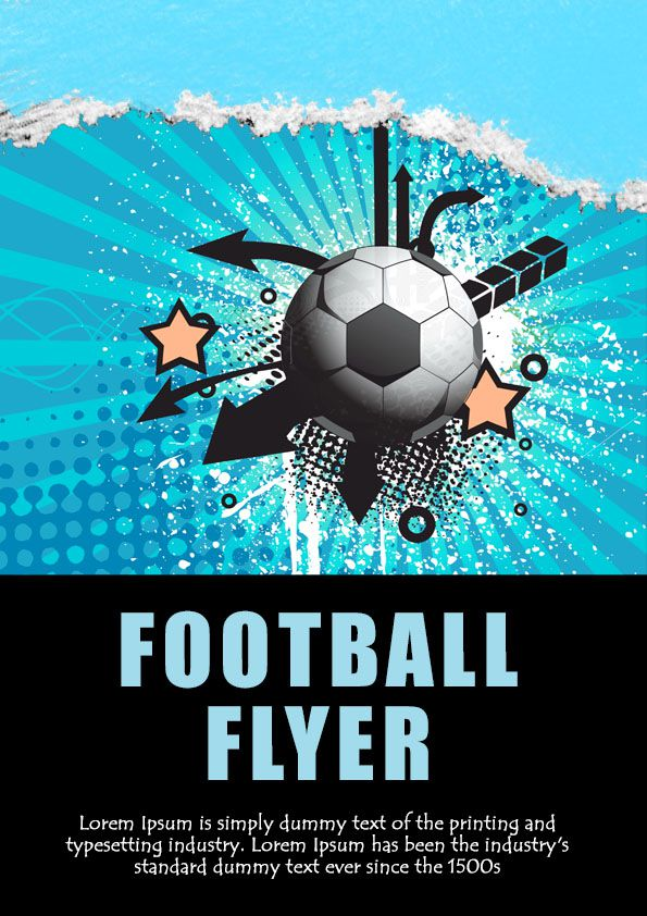 Big game football flyer template download