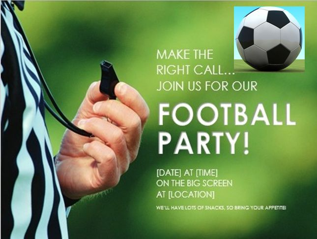 Football party flyer template free