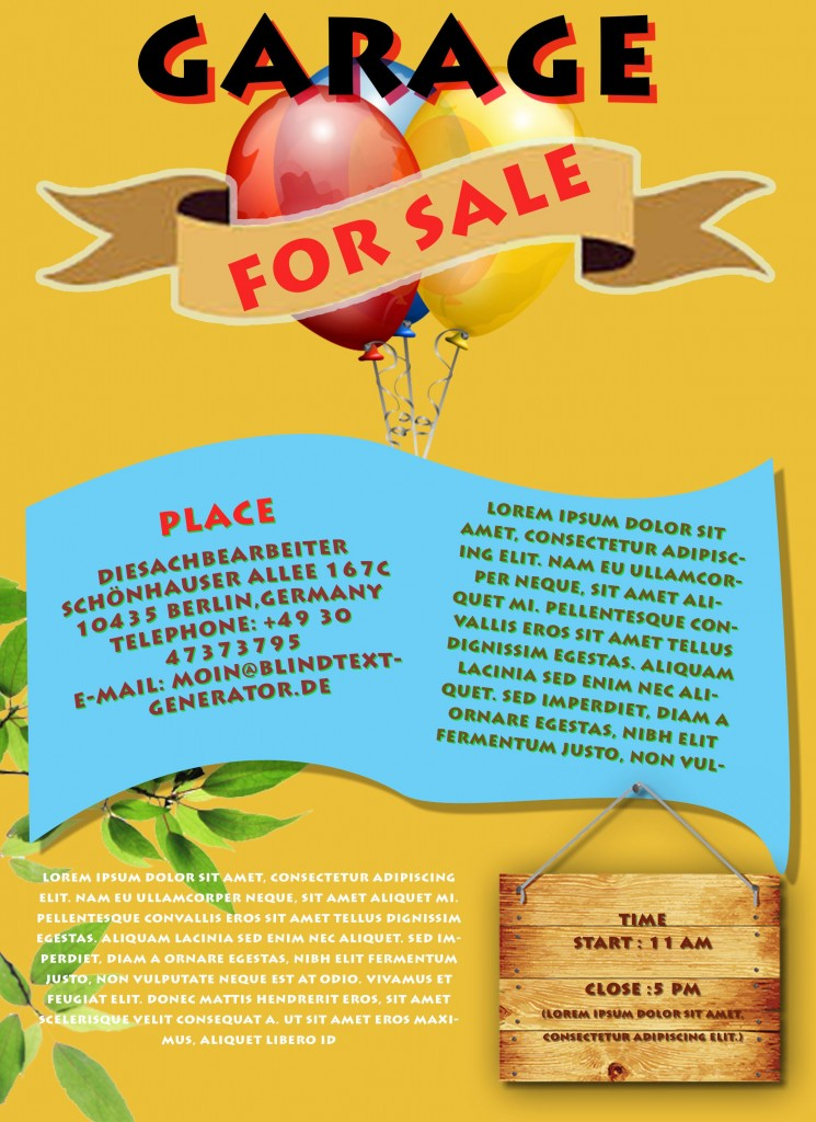 Garage Sale Flyer Template Free 2