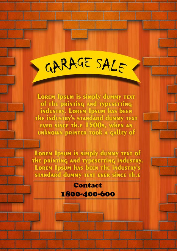 Garage Sale Flyer Template 5