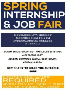 Internship Job Fair Flyer