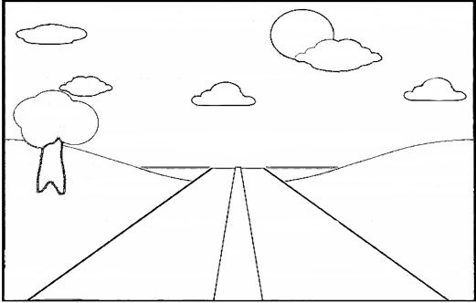 Blue Sky Coloring Page