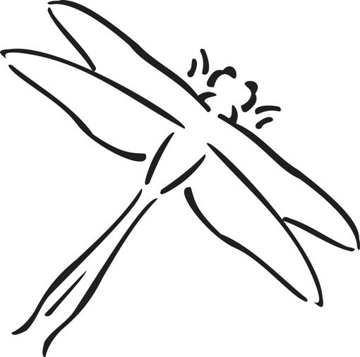 Dragon Flies Coloring Page