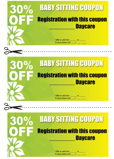Babysitting Coupon Book Template 11