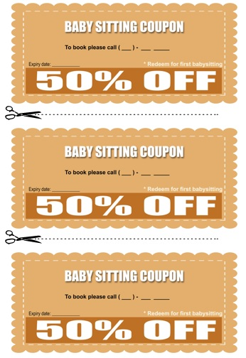 Babysitting Coupon Book Template 16