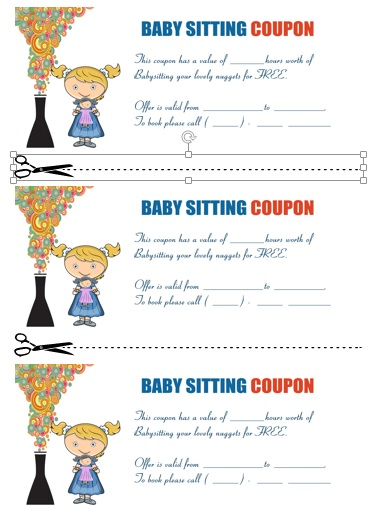Babysitting Coupon Book Template 18