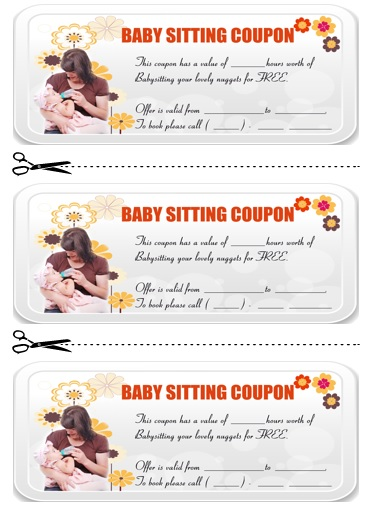 Babysitting Coupon Book Template 19