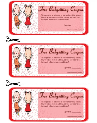Babysitting Coupon Book Template 3