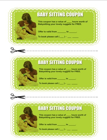 Babysitting Coupon Book Template 5