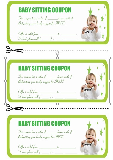Babysitting Coupon Book Template 7