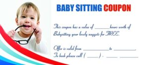 Free Babysitting Coupon Template 12