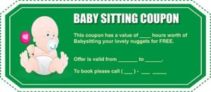Free Babysitting Coupon Template 14