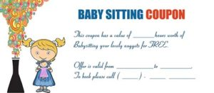 Free Babysitting Coupon Template 18