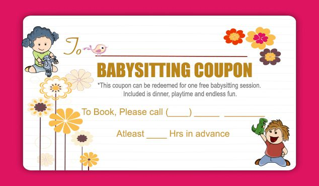 Free Babysitting Coupon Template 2