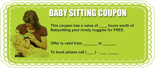 Free Babysitting Coupon Template 5
