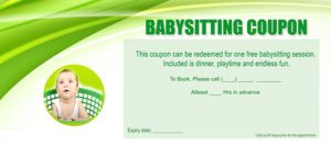 Funny Babysitting Coupon 3