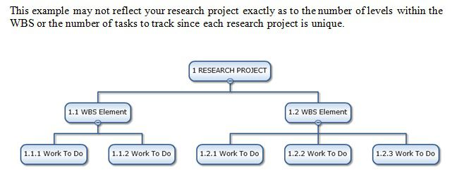 work breakdown structure research project